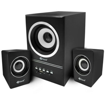 Мини Аудио Система Kisonli U-2700BT, 2.1, 10W, 3.5mm стерео, черен image
