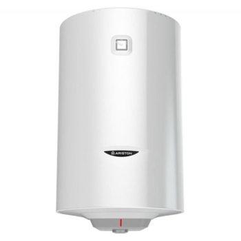 Електрически бойлер Ariston Pro 1 R VTS, 100л, вертикален, 1.8 kW, титаниево покритие, енергиен клас C, 90 x 45 x 48 cm image