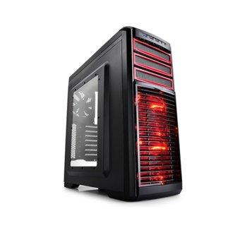 Кутия DeepCool KENDOMEN RD, ATX/MicroATX/MINI-ITX, USB3.0, 2× USB2.0, Audio(HD), Mic, черна, без захранване  image
