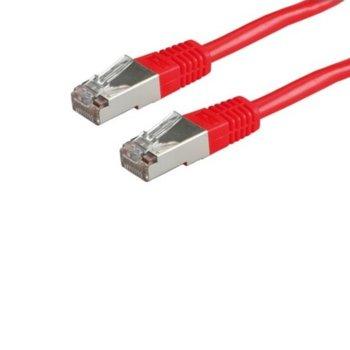 Пач кабел Roline 21.99.1361, S/FTP, Cat. 6, 5м, червен image