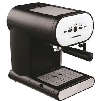 Кафемашина Heinner Soft Cream HEM-250, 1050W, 15 bar, капацитет на резервоара за вода 1л., двоен филтър от инокс, черна image