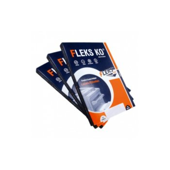 Етикети за принтери Fleks-Ko, формат А4, размер 105x74.09mm, 8бр. на лист, опаковка от 100 листа, бели image