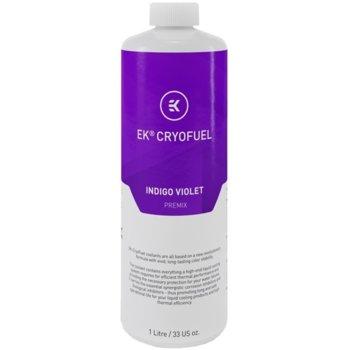 Течност за водно охлаждане Ekwb EK-CryoFuel Indigo Violet Premix, 1000ml, лилава image
