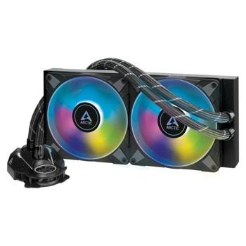 Водно охлаждане за процесор Arctic Liquid Freezer II - 280 A-RGB Black, съвместимост със сокети Intel LGA 1200/1151/1150/1155/1156/2011-0/2011-3/2066 & AMD AM4 image