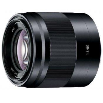 Обектив Sony SEL 50mm f/1.8 (черен) за Sony E image