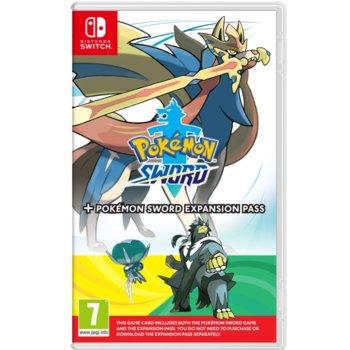 Игра за конзола Pokemon Sword + Expansion Pass, за Nintendo Switch image