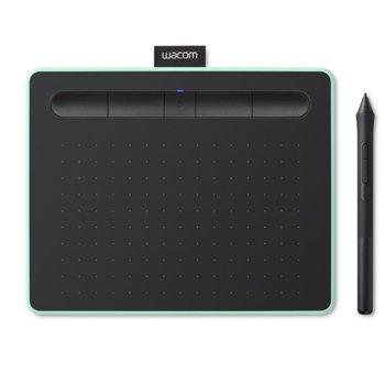 Графичен таблет Wacom Intuos S Bluetooth Pistachio (зелен)(CTL-4100WLE-N) с подарък протектор за телефон (водоустойчив), 2540 lpi, 4096 нива на натиск image