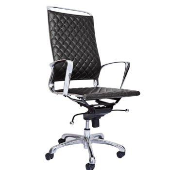 Директорски стол RFG Ell HB, екокожа, черна седалка, черна облегалка image
