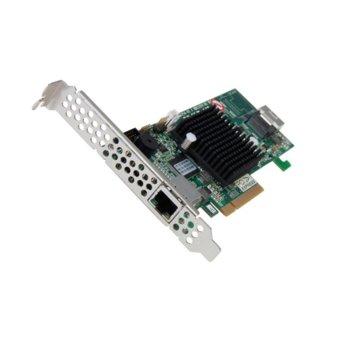 RAID Контролер Areca ARC-1216-4i, PCIe 3.0 към 1x Mini-SAS SFF-8643, SAS 12Gb/s, 1 портов(до 4 устройства), 1 GB DDR3 ECC RAM, Dual Core RAID-on-Chip 1.2GHz, поддържа RAID level 0, 1, 10(1E), 3, 5, 6, 30, 50, 60, Single Disk or JBOD image