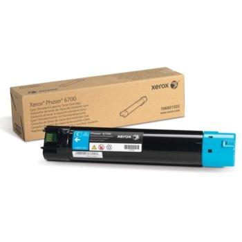 Касета за Xerox Phaser 6700 - Cyan - P№ 106R01511 - 5 000к image