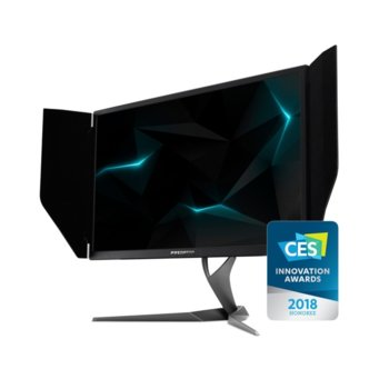 "Монитор Acer Predator X27 (UM.HX0EE.009), 27"" (68.58 cm) IPS панел, UHD/4K, 4ms, 100 000 000:1, 600cd/m2, Display Port, HDMI, USB Hub image"
