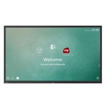 "Публичен дисплей ViewSonic IFP9850-3, 97.5"" (247.65 cm) 4K/UHD Touchscreen, HDMI, VGA, USB, LAN, 1x Audio Jack image"