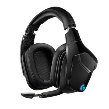 Слушалки Logitech G935, безжични, микрофон, гейминг, 7.1 Surround Sound, черни image