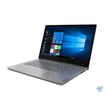 "Лаптоп Lenovo ThinkBook 14 IIL (20SL003HBM/2)(сив), четириядрен Ice Lake Intel Core i5-1035G1 1.0/3.6 GHz, 14.0"" (35.56 cm) Full HD IPS Anti-Glare Display, (HDMI), 8GB DDR4, 256GB SSD, 1x USB 3.1 Type-C, Windows 10 Home  image"