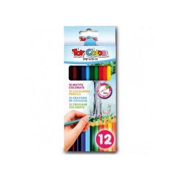 Цветни моливи Toy Color, 24 броя, дълги image