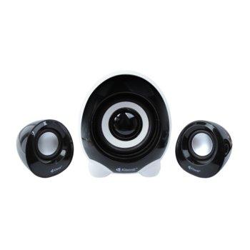 Тонколони Kisonli U-2300,2.1, 11W (5W + 2 x 3W), USB, Черен image