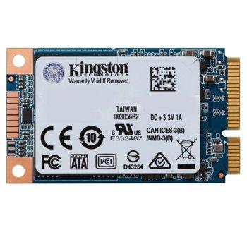 Памет SSD 120GB Kingston UV500, mSATA, скорост на четене 520MB/s, скорост на запис 320MB/s image