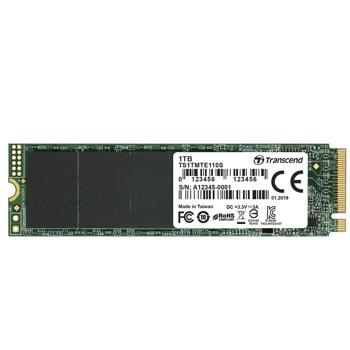 Памет SSD 1TB, Transcend TS1TMTE110S, NVMe, M.2 (2280), скорост на четене 1700MB/s, скорост на запис 1 500 MB/s image