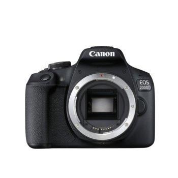 "Фотоапарат Canon EOS 2000D, без обектив, 24.1 MPix, 3.0""(7.62cm) LCD дисплей, Wi-Fi/NFC, SD слот, Mini HDMI (Type-C) image"