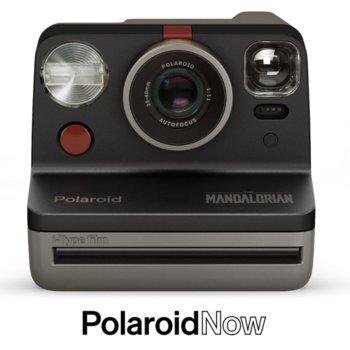 Фотоапарат Polaroid Now - Mandalorian (сив), моментални снимки, светкавица, с батерия, auto-focus, USB image