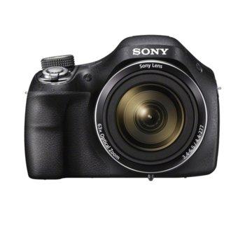 """Фотоапарат Sony CyberShot DSC-H400 (нарушена опаковка), 63x оптично увеличение, 20.1 Mpix, 3.0"""" (7.62cm) LCD дисплей, SDHC/SDXC image"""
