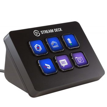 Стрийминг контролер Elgato Stream Deck Mini, 6 цветни LCD бутона, USB image