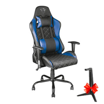 Trust GXT 707B Resto Gaming Chair - Blue + GXT 260 product