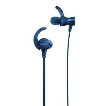 "Слушалки Sony MDR-510AS, микрофон, тип ""тапи"", сини image"