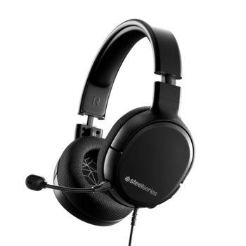 Слушалки SteelSeries Arctis 1, микрофон, 3 m. кабел, 40 мм говорители, 100 dB чувствителност, 3.5 mm jack, черни image