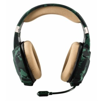 Слушалки Trust GXT 322C, микрофон, 112 dB, 3.5 mm jack, камуфлаж image
