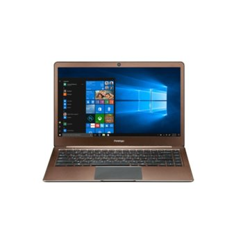 "Лаптоп Prestigio SmartBook 141S01 (PSB141S01ZFH_DB)(кафяв), двуядрен Apollo Lake Intel Celeron N3350 1.1/2.4 GHz, 14.1"" (35.81 cm) Full HD IPS Anti-Glare Display, (mHDMI), 4GB, 32GB eMMC, 2x USB 3.0, Windows 10, 1.4 kg image"
