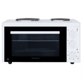 Готварска печка Davoline EC400 Chef, 2650W, 28 л. обем на фурната, 2 котлона, бяла image
