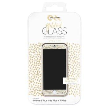 Протектор от закалено стъкло /Tempered Glass/, CaseMate CM034976X, за iPhone 8/7/6S/6, златна рамка image