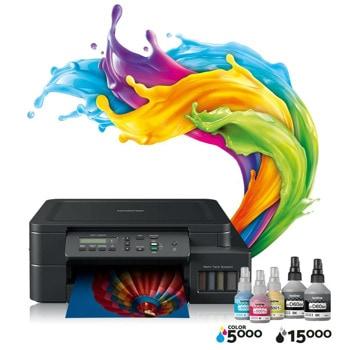 Мултифункционално мастиленоструйно устройство Brother DCP-T520W Inkbenefit Plus Multifunctional, цветно, принтер/копир/скенер, 1200 x 6000 dpi, 17стр/мин, Wi-Fi, USB, A4 image