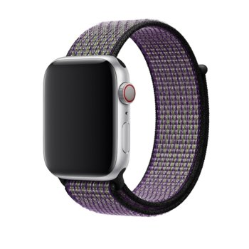 Каишка за смарт часовник Apple Watch (44mm) Nike Band:Desert Sand/Volt Nike Sport Loop, лилава image