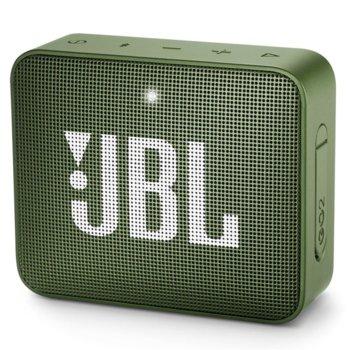 Тонколона JBL GO 2, 1.0, 3W RMS, 3.5mm jack/Bluetooth, зелен, до 5 часа работа, IPX7 image
