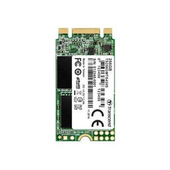 Памет SSD 256GB Transcend 430S, SATA 6Gb/s, M.2 (2242), скорост на четене 550MB/s, скорост на запис 480MB/s image