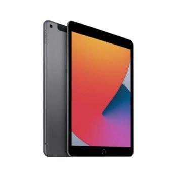"Таблет Apple iPad 8 Cellular (MYMH2HC/A)(сив), 10.2"" (25.90 cm) IPS Multi-Touch дисплей, шестядрен A12 Bionic, 3GB RAM, 32GB Flash памет, 8.0 & 1.2 MPix камера, Ipad OS image"