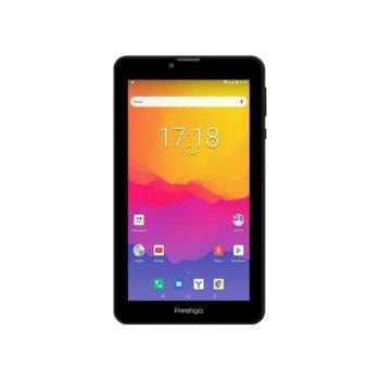 "Таблет Prestigio Wize 4137 4G, LTE, 7"" (17.78 cm) WXGA IPS дисплей, четириядрен Cortex-A53 1.4 GHz, 1GB, 16GB Flash памет, 2.0 & 0.3, MPix камера, Android, 271g image"