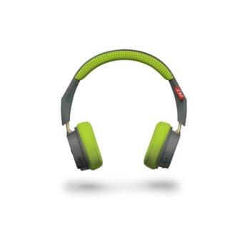 Слушалки Plantronics BackBeat 500, микрофон, Bluetooth 4.1, универсална, сиво-зелени image