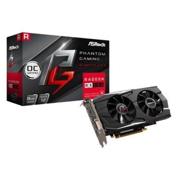 Видео карта AMD Radeon RX580,8GB, ASRock Phantom Gaming D OC, PCI-E 3.0, GDDR5, 256 bit, 3x DisplayPort, 1x HDMI, 1x DVI image