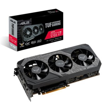 Видео карта AMD Radeon RX 5700 XT, 8GB, Asus TUF Gaming X3 OC, PCI-E 4.0, GDDR6, 256bit, Display Port, HDMI image