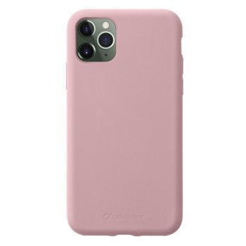 Калъф за Apple iPhone 11 Pro Max, силикон, Cellular Line Sensation, розов image