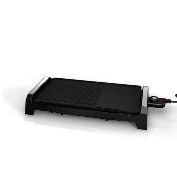 Скара Finlux FHG-2202MCI, 2200W, керамично незалепващо покритие, тавичка за мазнина, черна image