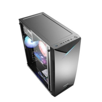 Кутия Segotep Knight SG-KN03, ATX/microATX/Mini-ITX, 1x USB 3.0, 1x USB 2.0, черна, без захранване image