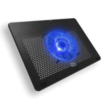 """Охлаждаща подложка за лаптоп Cooler Master Notepal L2, за лаптопи до 17"""" (43.18 cm), синя подсветка, черна image"""