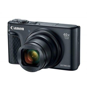"""Фотоапарат Canon PowerShot SX740 HS (черен), 40x оптично увеличение, 20.3Mpix, 3,0""""(7,5 cm) TFT дисплей, Wi-Fi, Bluetooth, SD/SDHC/SDXC слот, USB Micro-B, HDMI Micro image"""