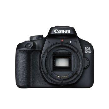 "Фотоапарат Canon EOS 4000D, без обектив, 18.7 Mpix, 2.7"" (6.8 cm) дисплей, слот за SD/SDHC/SDXC карта, Wi-Fi, Mini HDMI (Type-C), USB image"