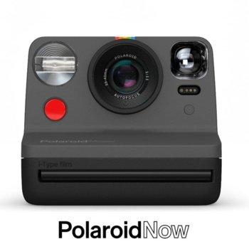Фотоапарат Polaroid Now (черен), моментални снимки, светкавица, с батерия, auto-focus, USB image