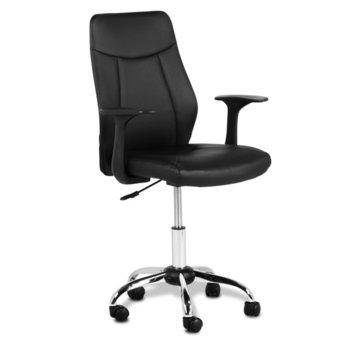 Офис стол Carmen 6045, еко кожа, подлакътници, газов амортисьор, коригиране височина, черен image